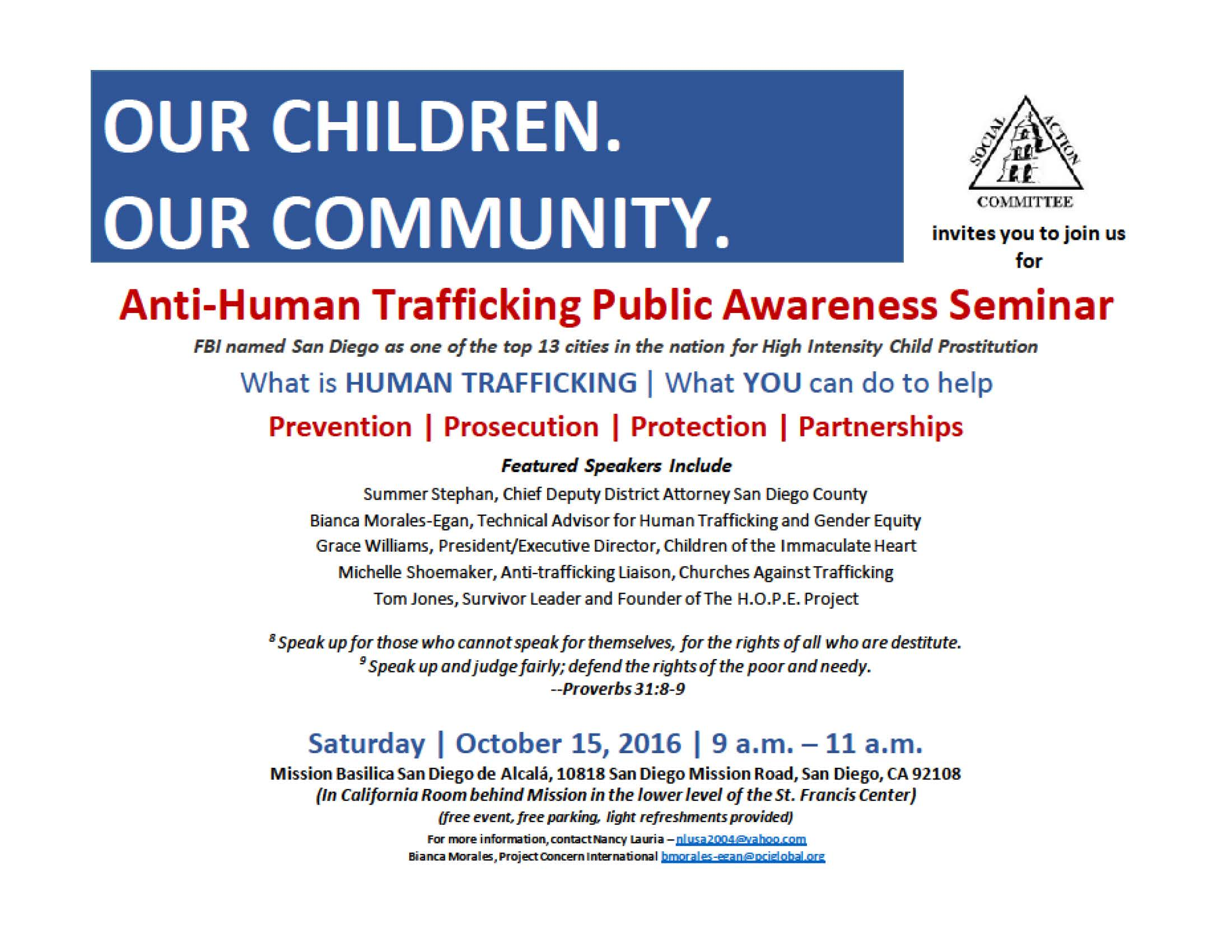 Anti-Human Trafficking Public Awareness Seminar