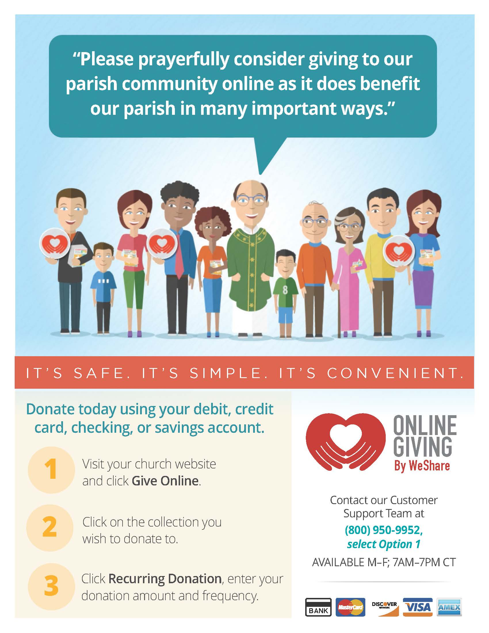 Parish Online Giving by WeShare