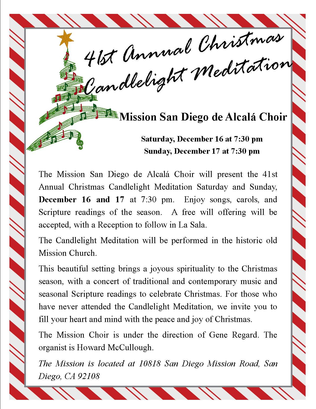 Mission\'s Choir Candlelight Meditation - Mission Basilica San Diego ...