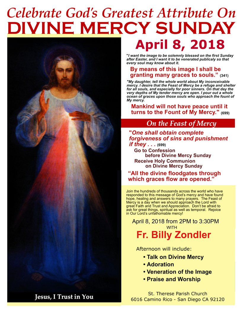 Divine Mercy Sunday with Fr. Billy Zondler