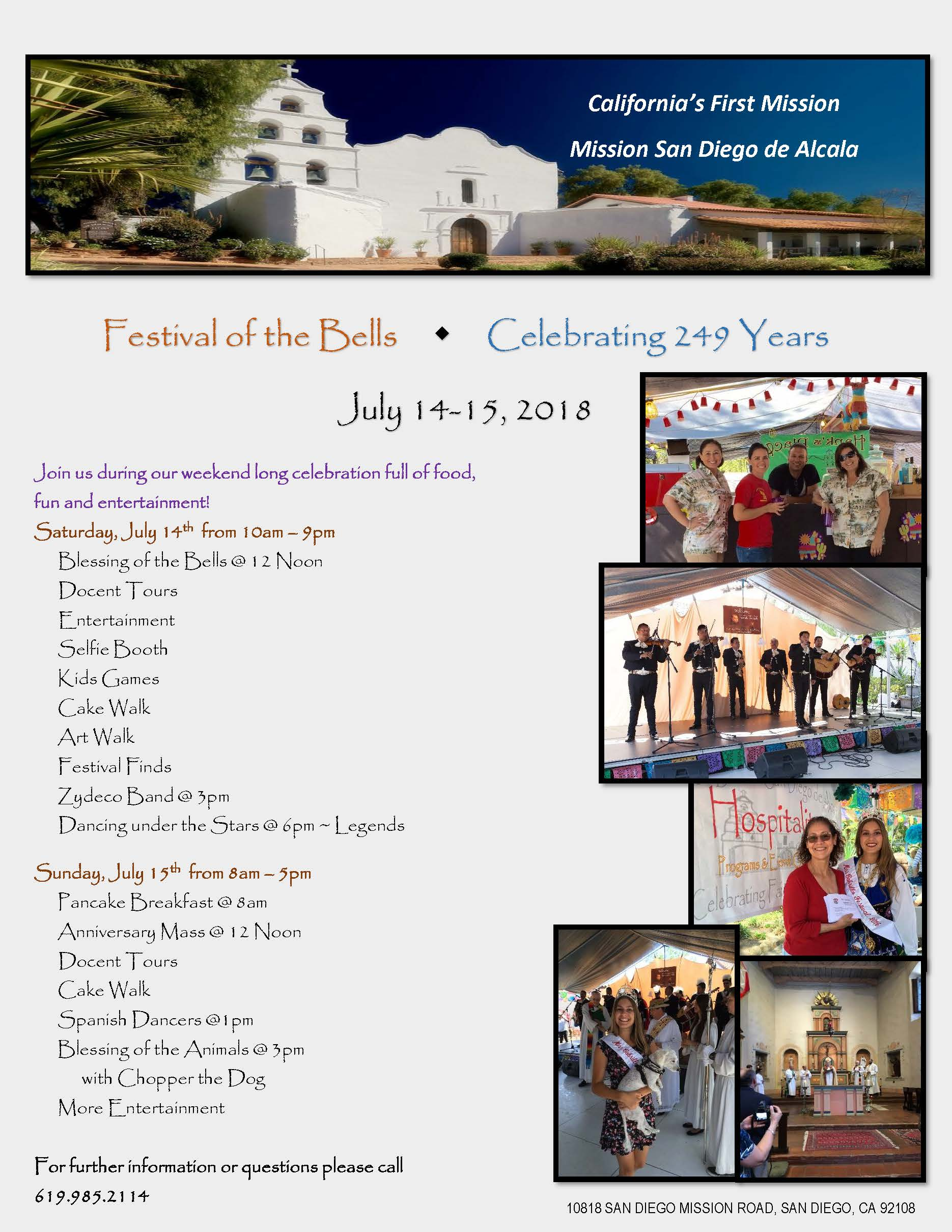Festival of the Bells Schedule