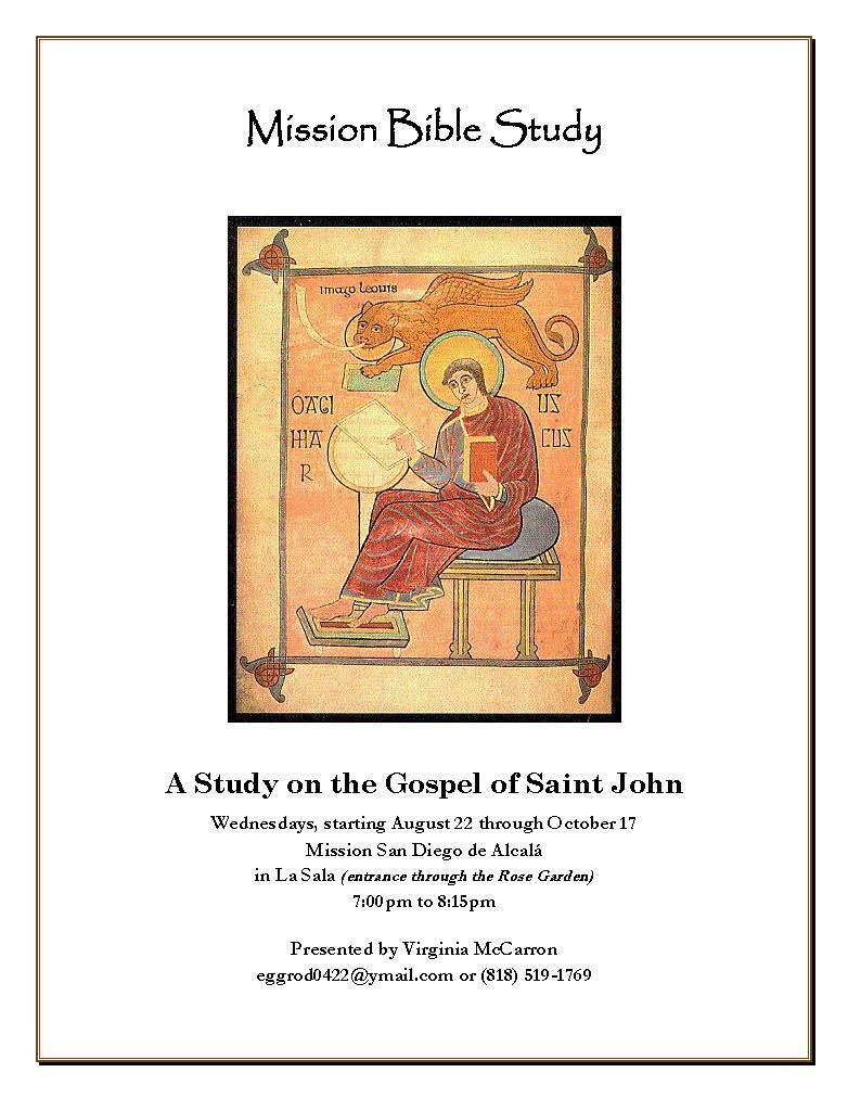 Bible Study - Gospel of St. John with Virginia McCarron