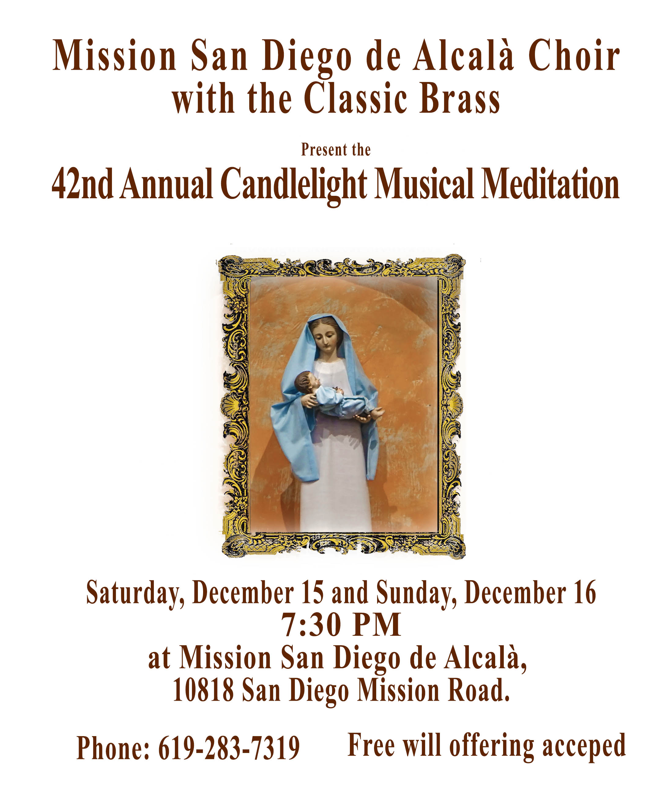 Mission San Diego Choir 42nd Annual Candlelight Musical Meditation