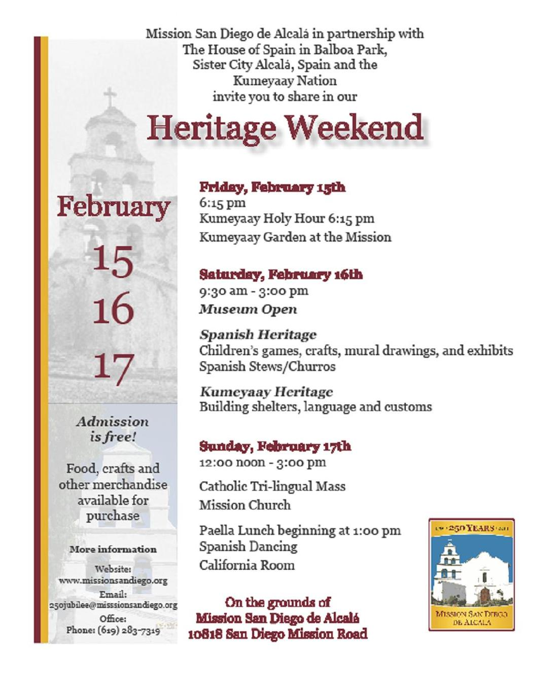 2019 Jubilee Year Heritage Weekend at the Mission