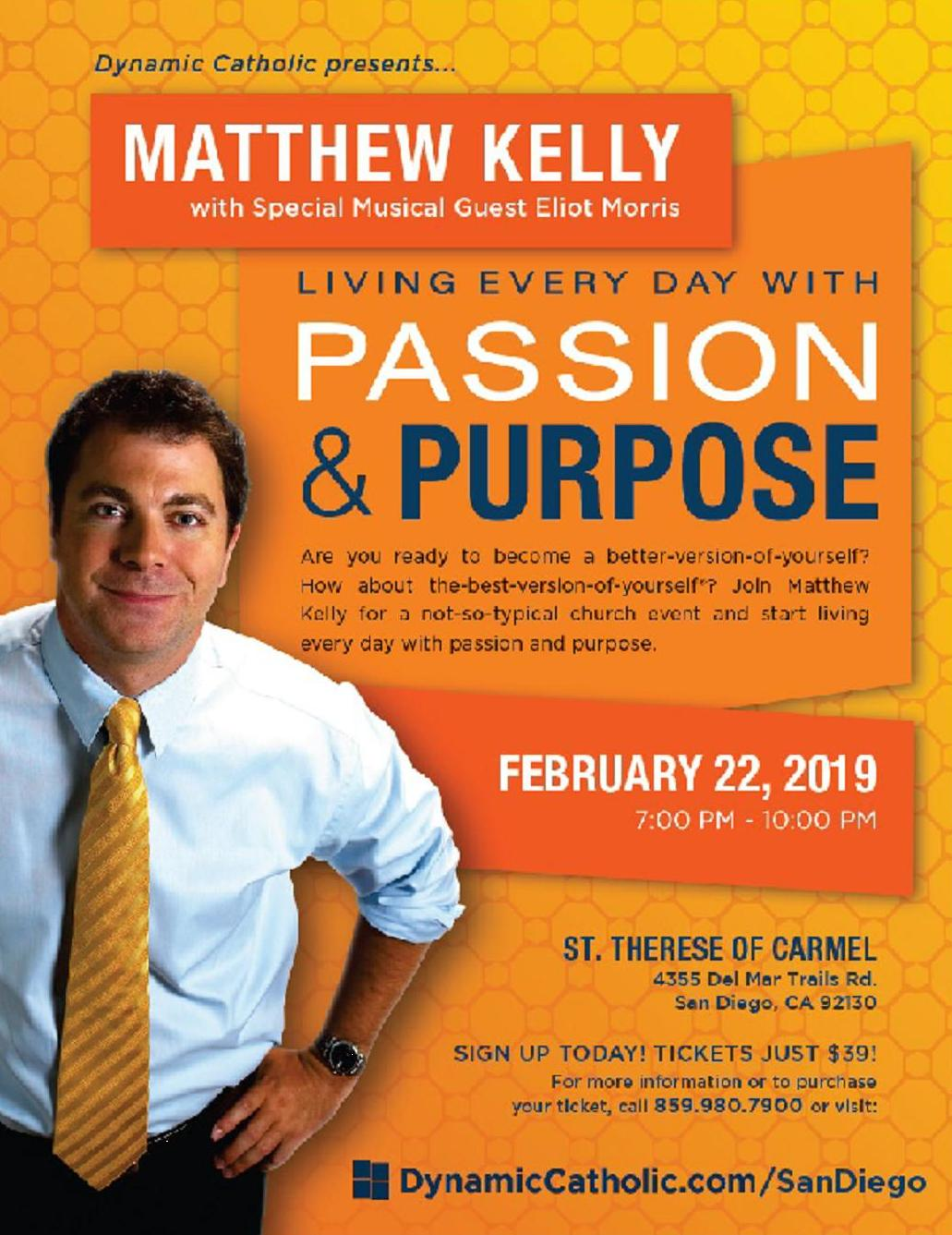 Matthew Kelly 'Living Every Day with Passion & Purpose'