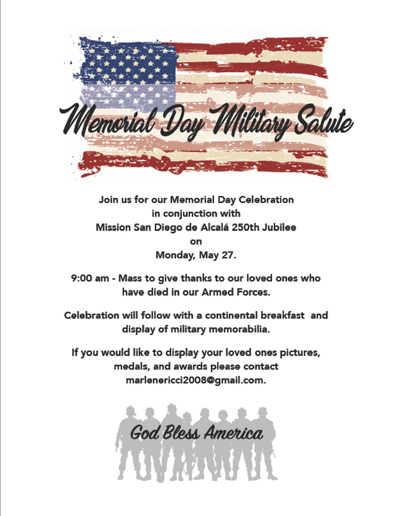 250th Jubilee Memorial Day Military Salute