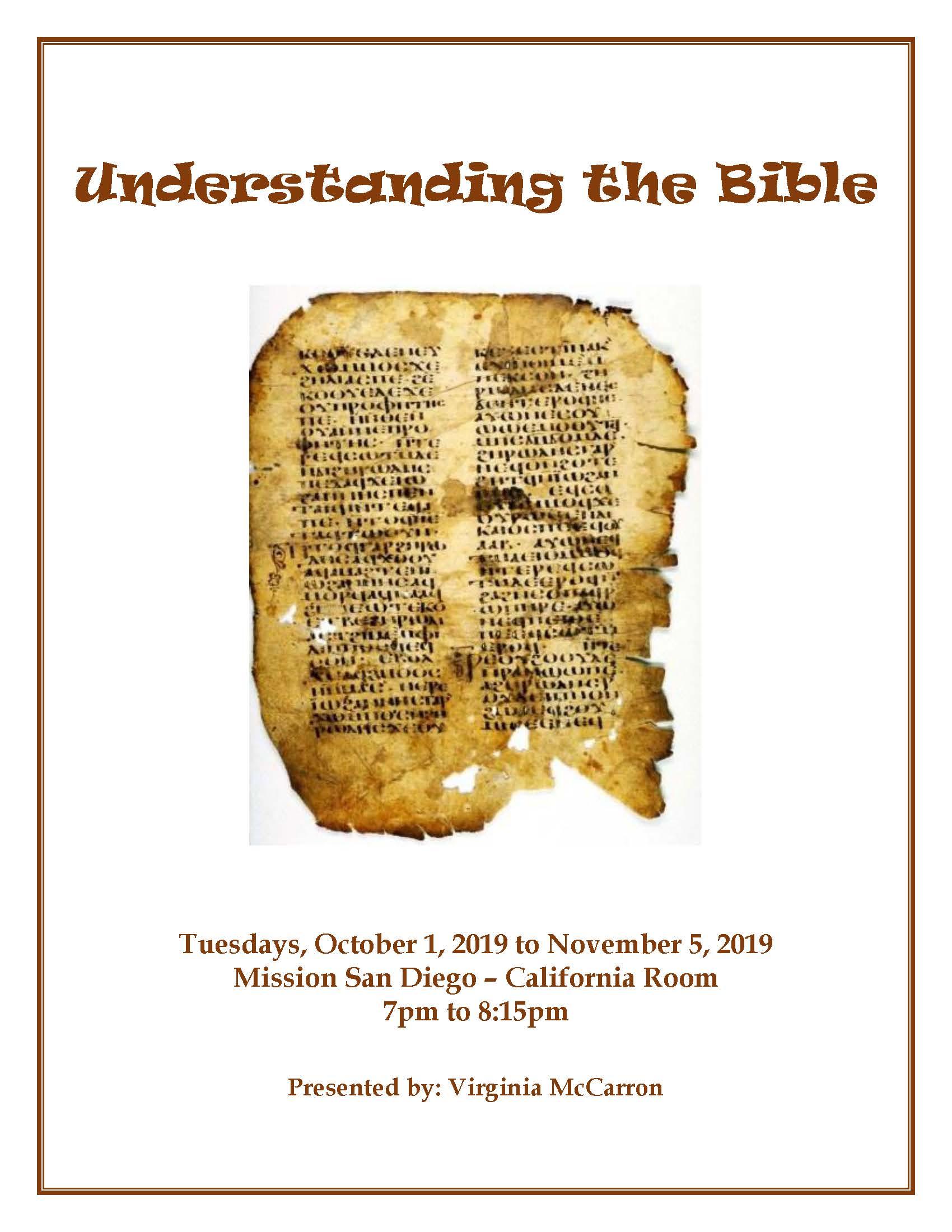Understanding the Bible presented by Virginia McCarron
