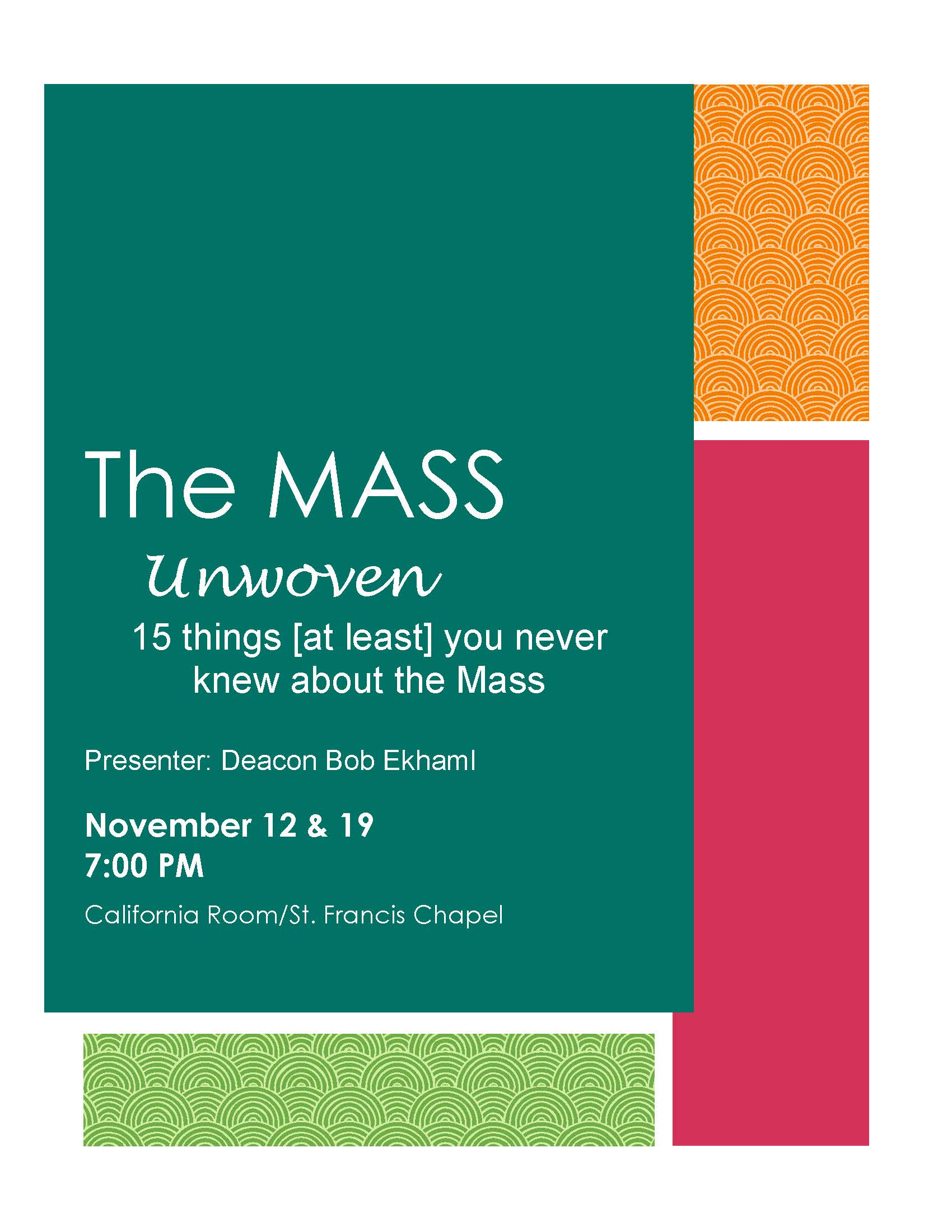 The Mass; 15 things (at least!) you never knew about the Mass!