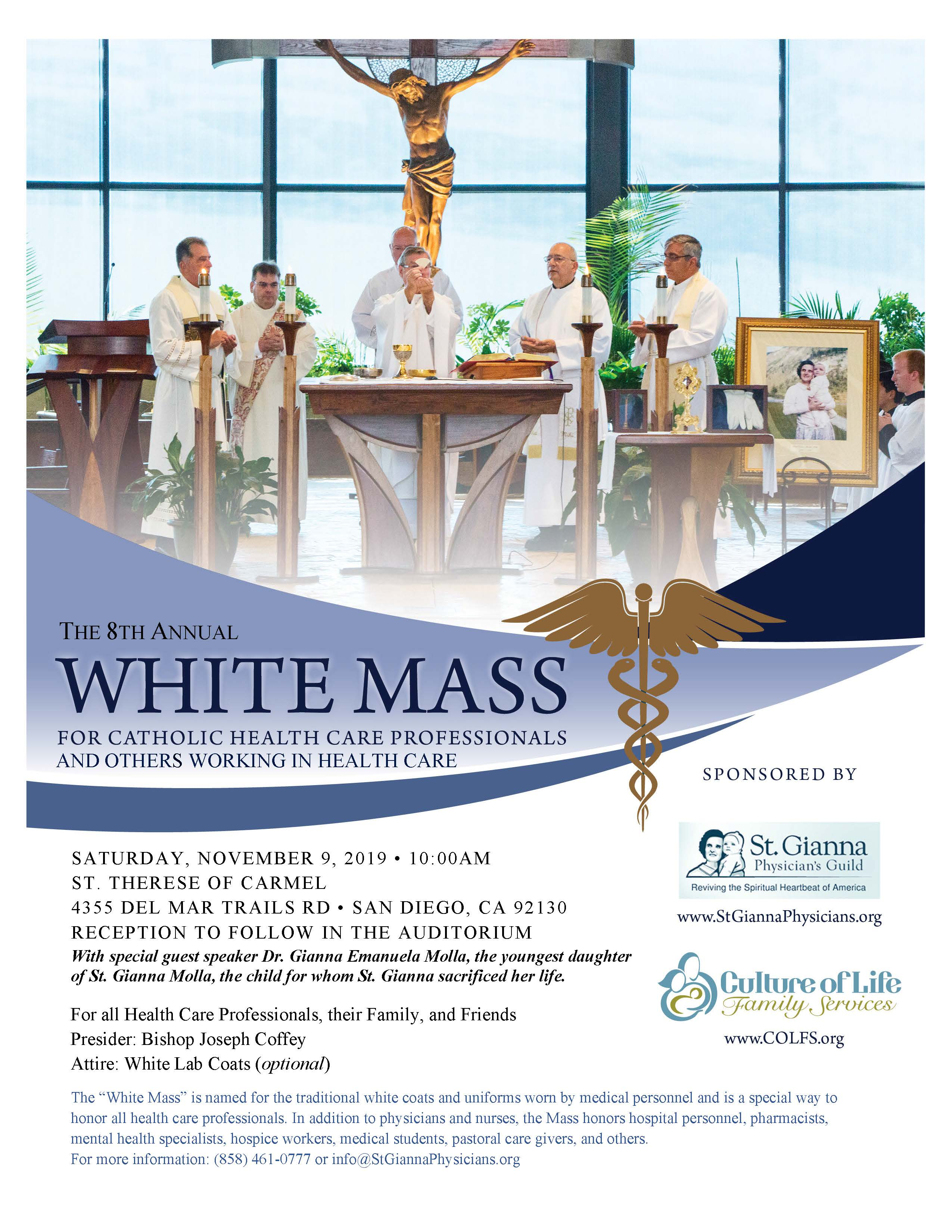 "8th Annual ""White Mass"" for Health Care Professionals"