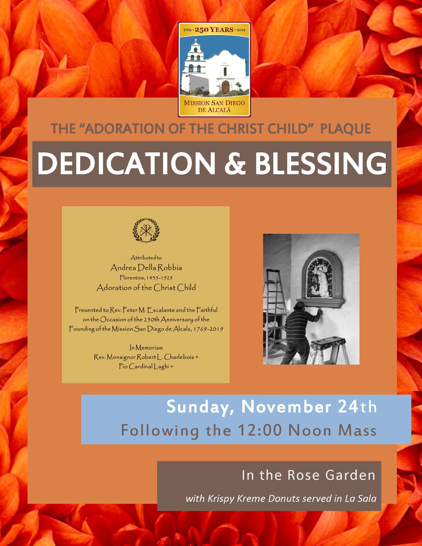 "Dedication and Blessing of the ""Adoration of the Christ Child"" Plaque"