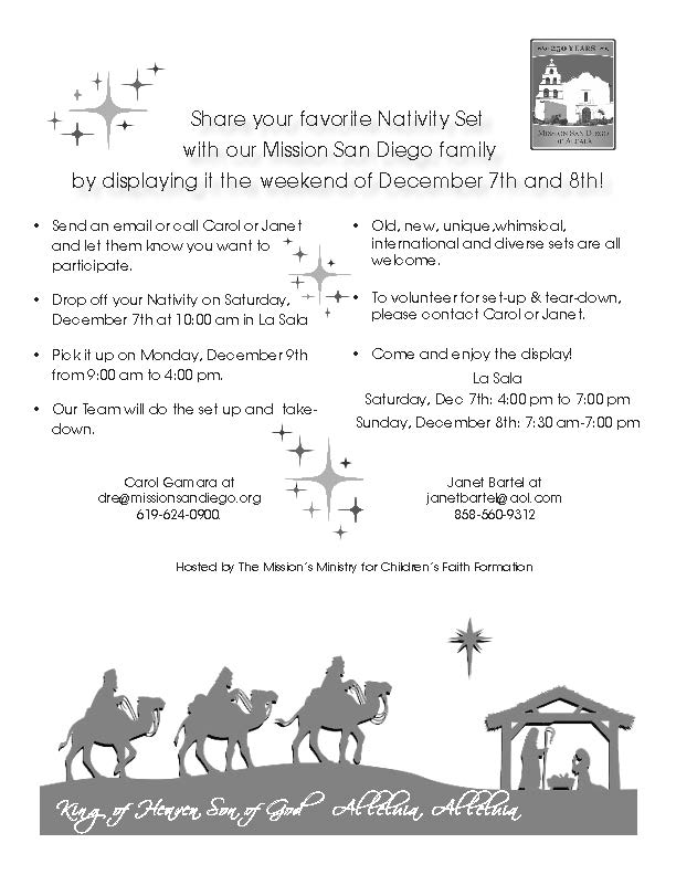 Nativity Weekend at the Mission!