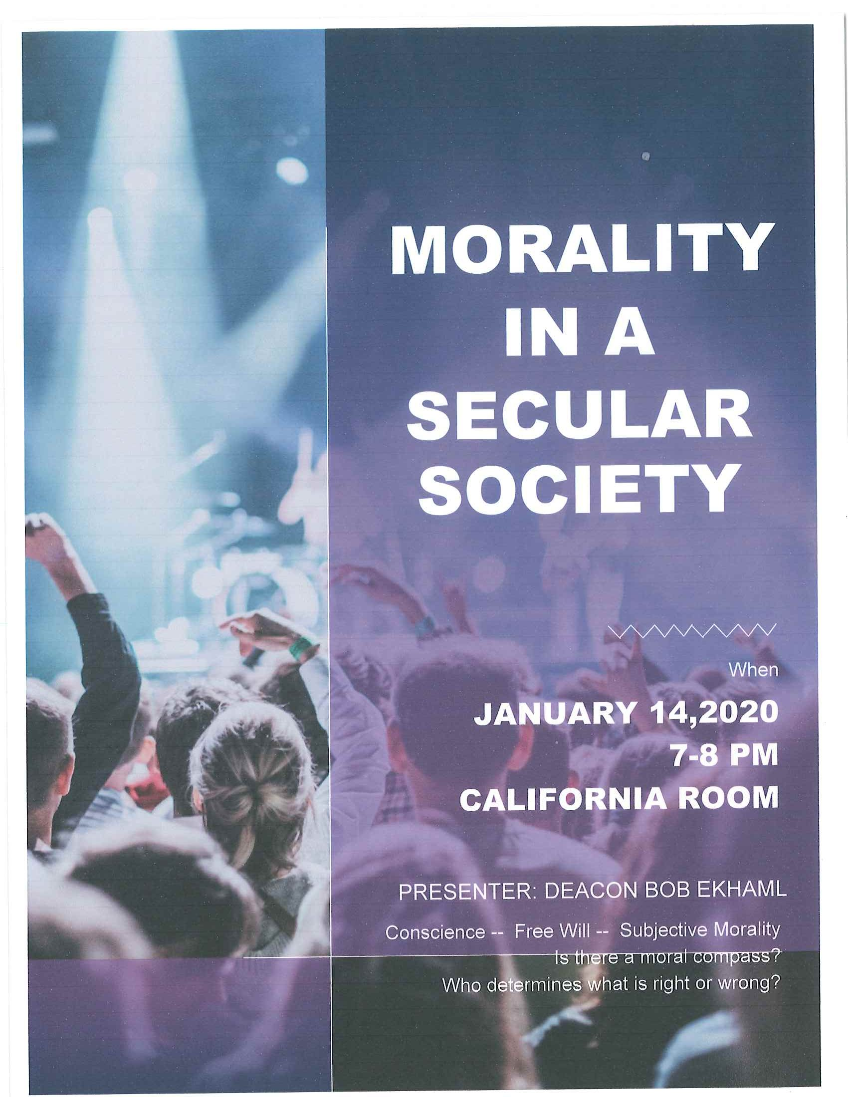Morality in a Secular Society