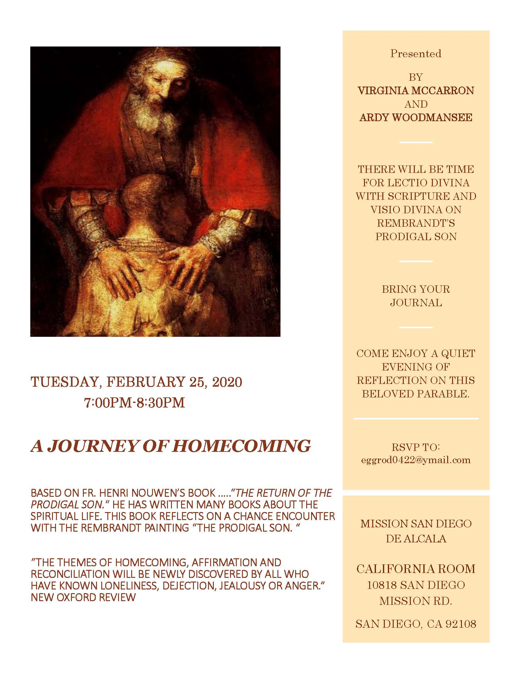 A Journey of Homecoming (Lenten Presentation)