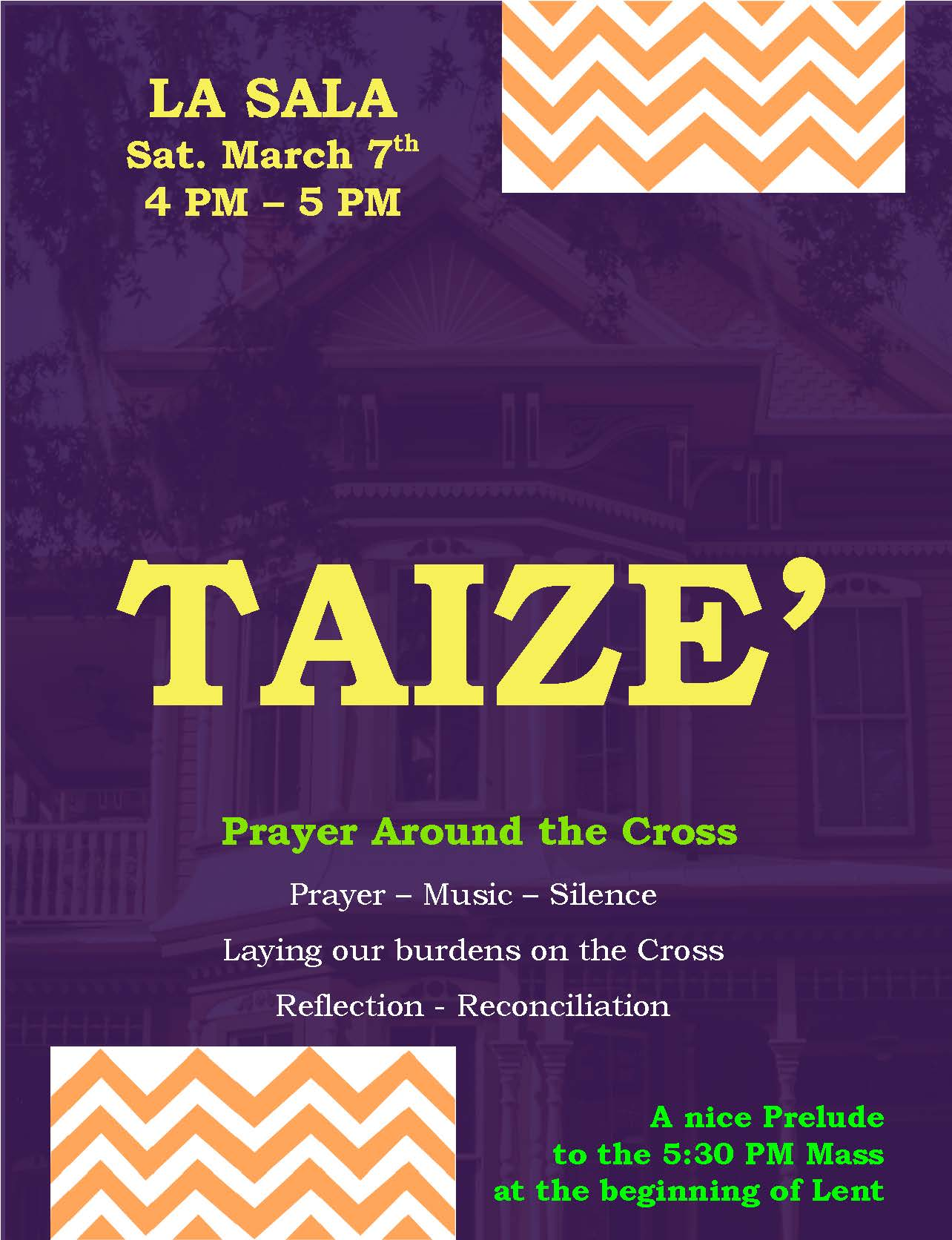 TAIZE - A Lenten Event at the Mission