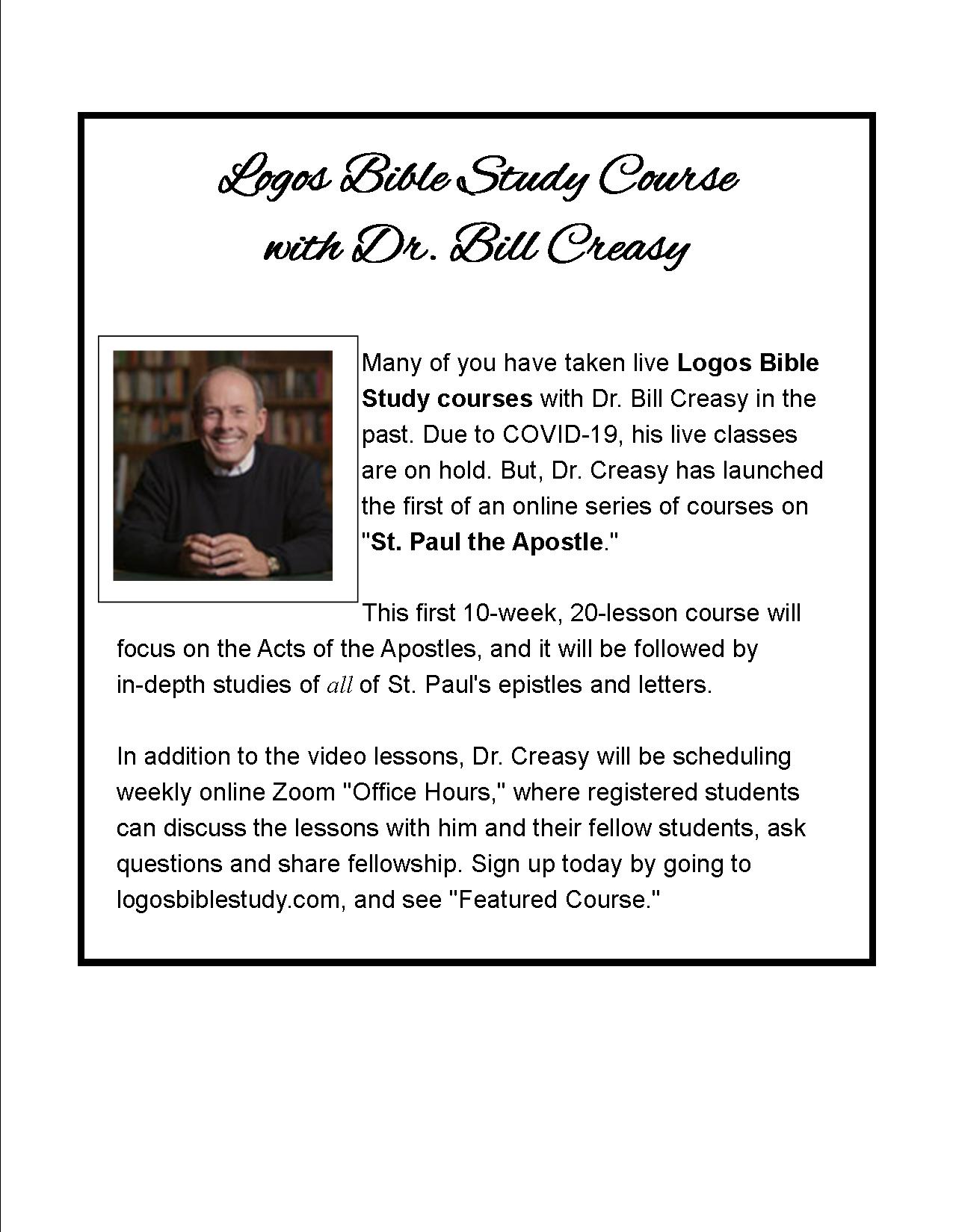 Bible Study with Dr. Bill Creasy